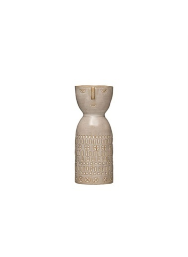 Warm Design Porselen Vazo Gri